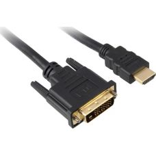 Sharkoon HDMI to DVI-D Cable Black 1m
